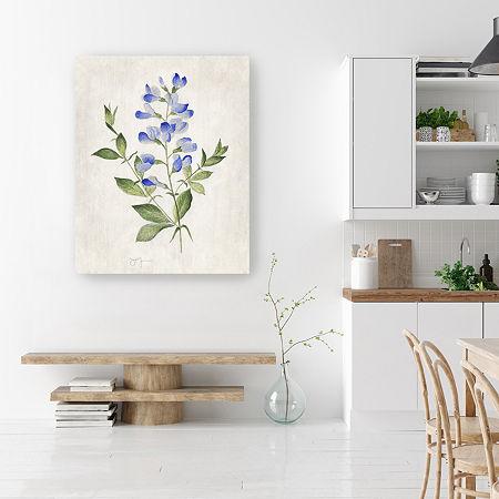 Blue Botanical II Canvas Art, One Size , Blue