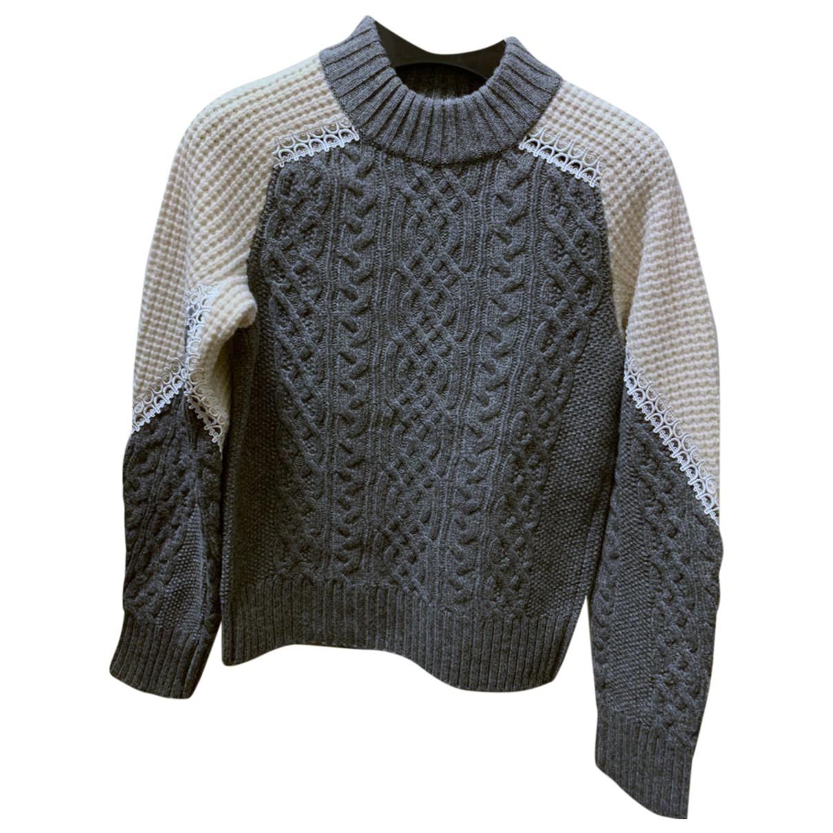 Sacai - Pull   pour femme en laine - gris