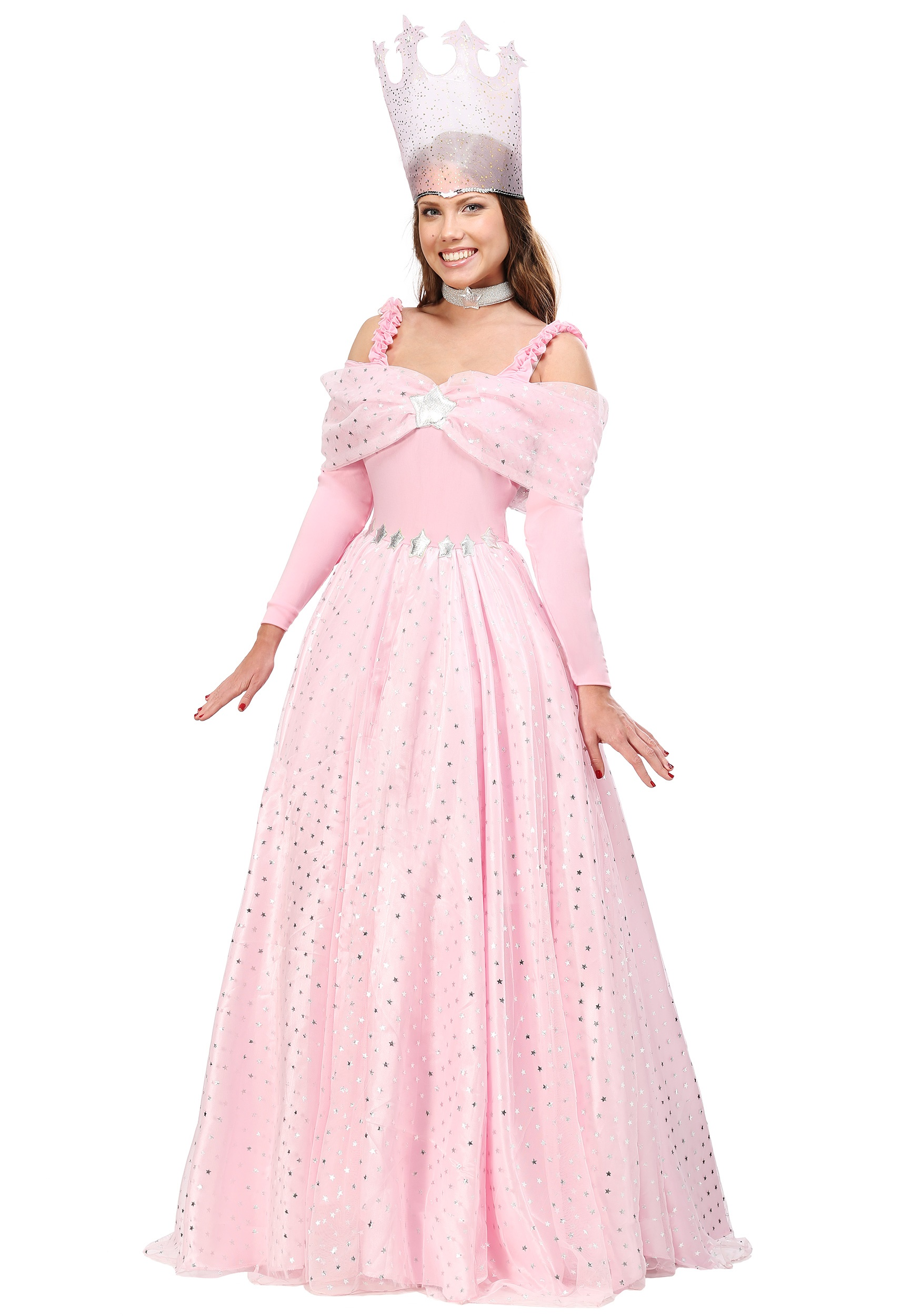 Plus Size Pink Witch Dress Deluxe Costume
