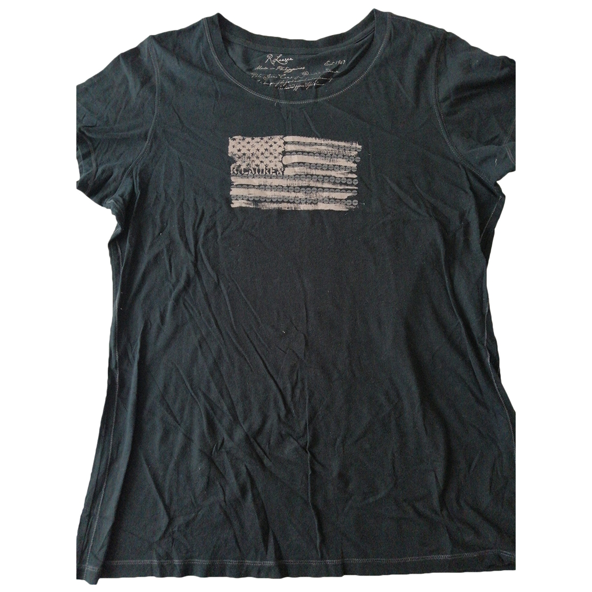 Ralph Lauren \N Black Cotton  top for Women L International
