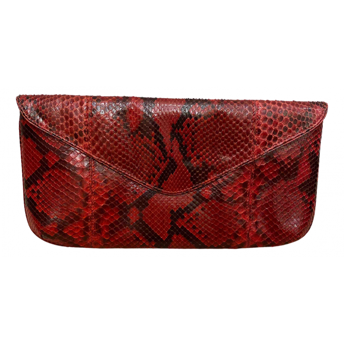 - Pochette   pour femme en python - rouge