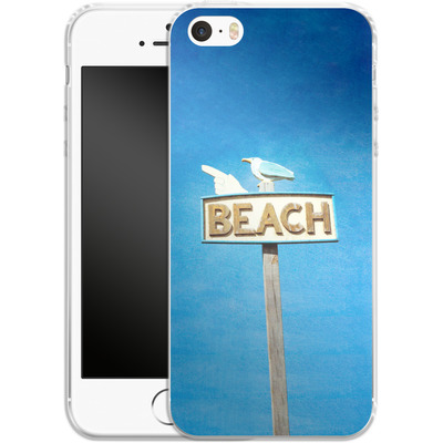 Apple iPhone 5s Silikon Handyhuelle - Beach von Joy StClaire