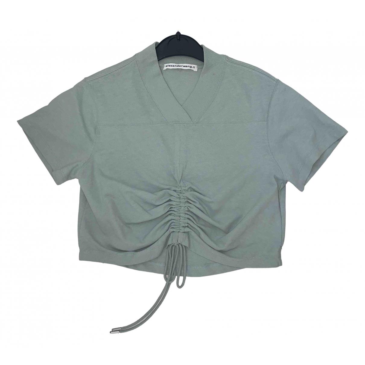 T By Alexander Wang - Top   pour femme en coton - vert