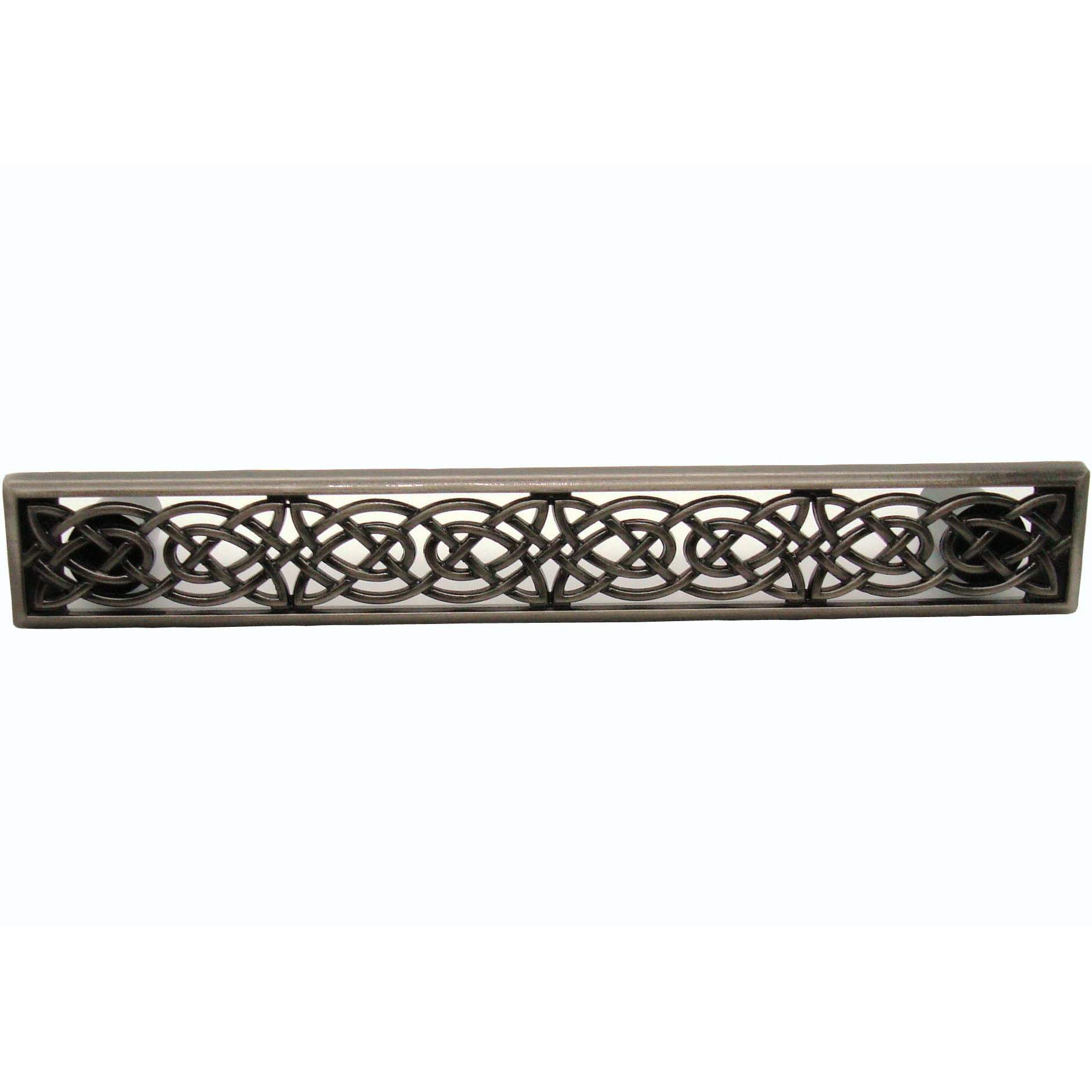 Large Celtic Style Pull,  Satin Nickel Oxide