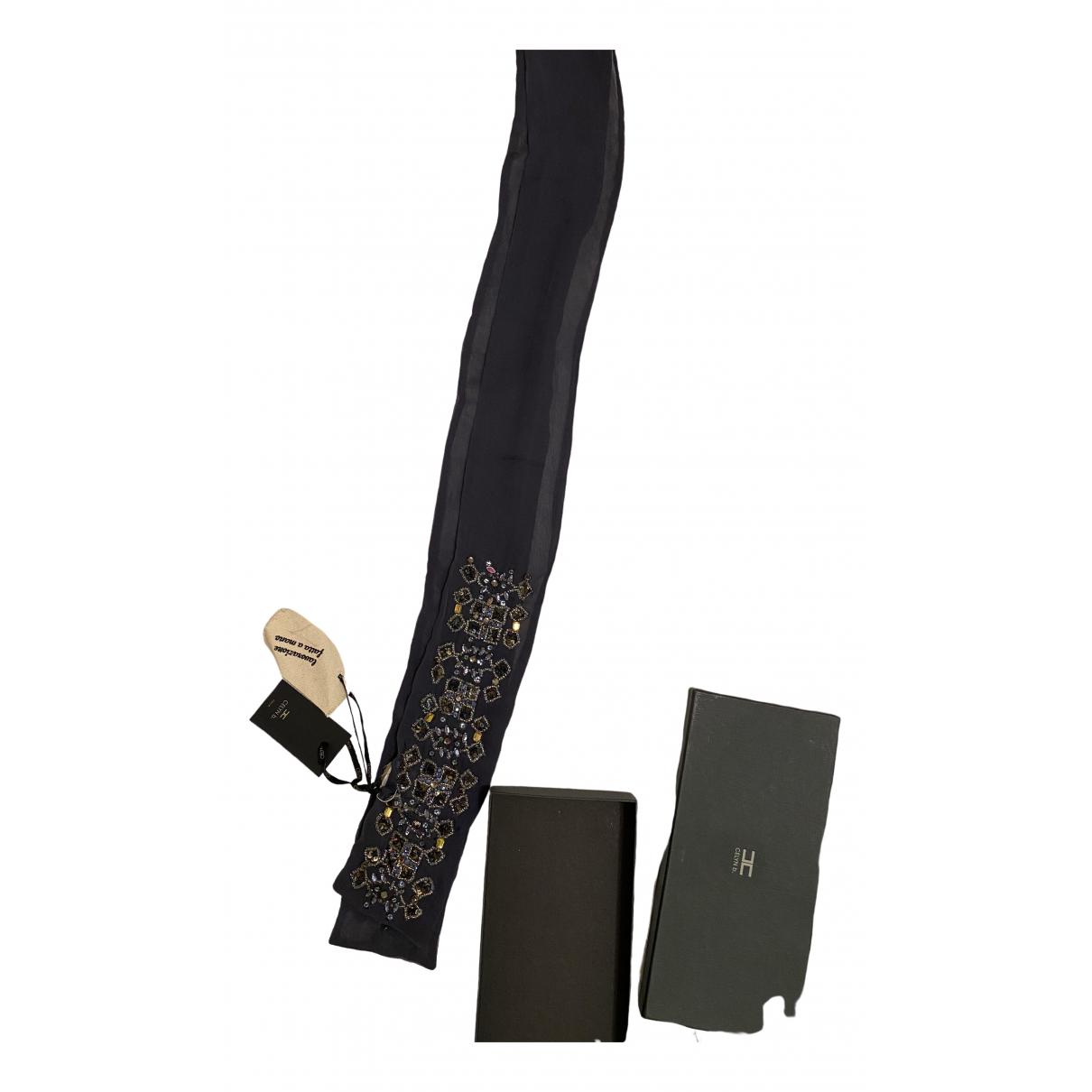 Elisabetta Franchi \N Blue Silk scarf for Women \N