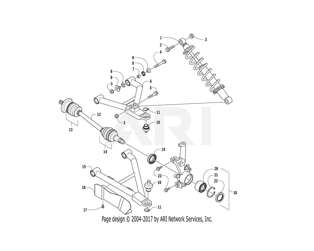 Arctic Cat OEM 3307-420 A Arm Assembly Front Lower Left Hand | (Inc. 7 11)