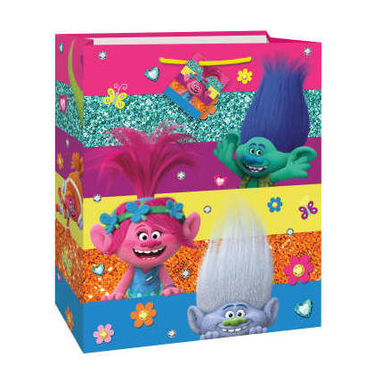 Trolls Large Gift Bag, 12.5''H x 10.5''W