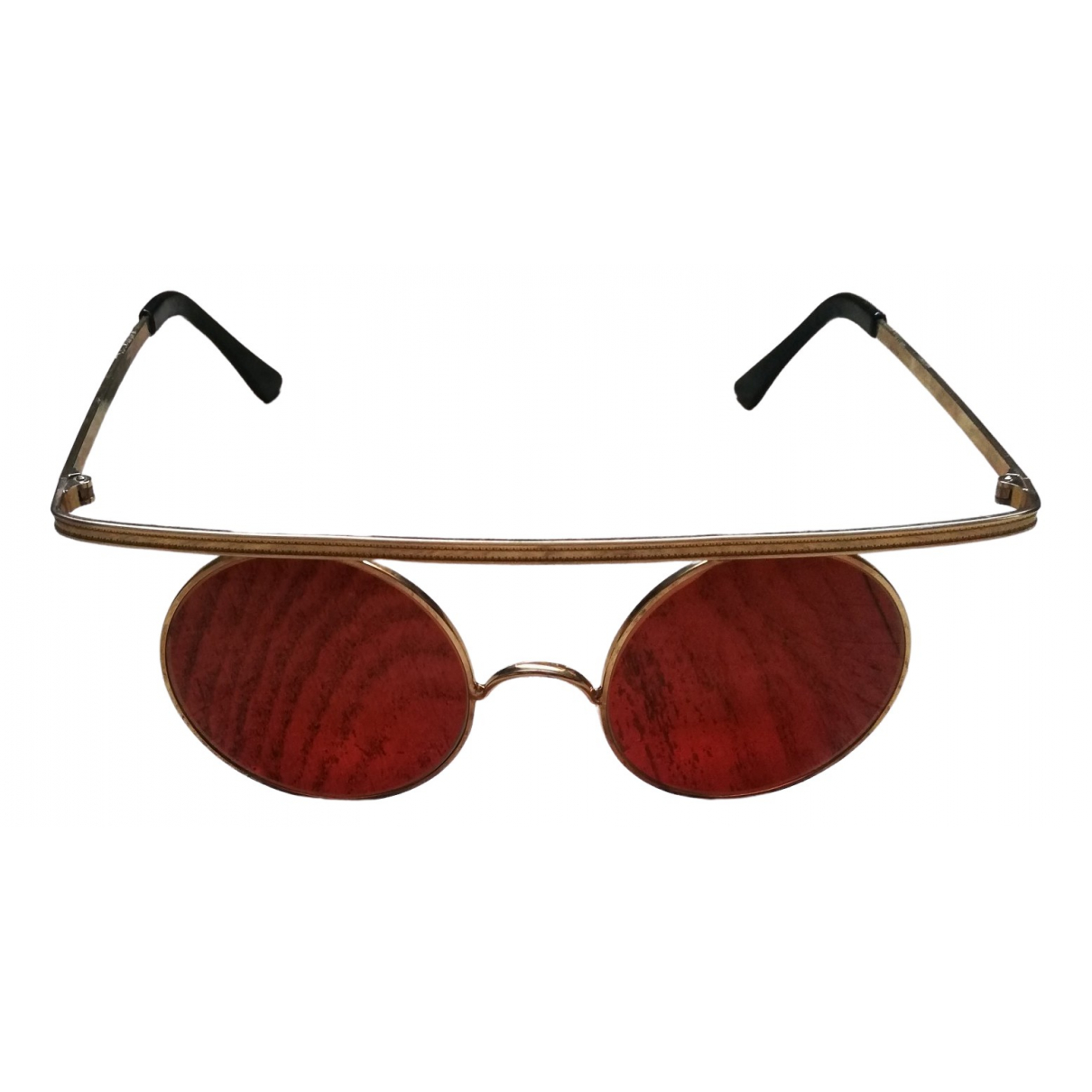 Non Signé / Unsigned \N Gold Metal Sunglasses for Women \N