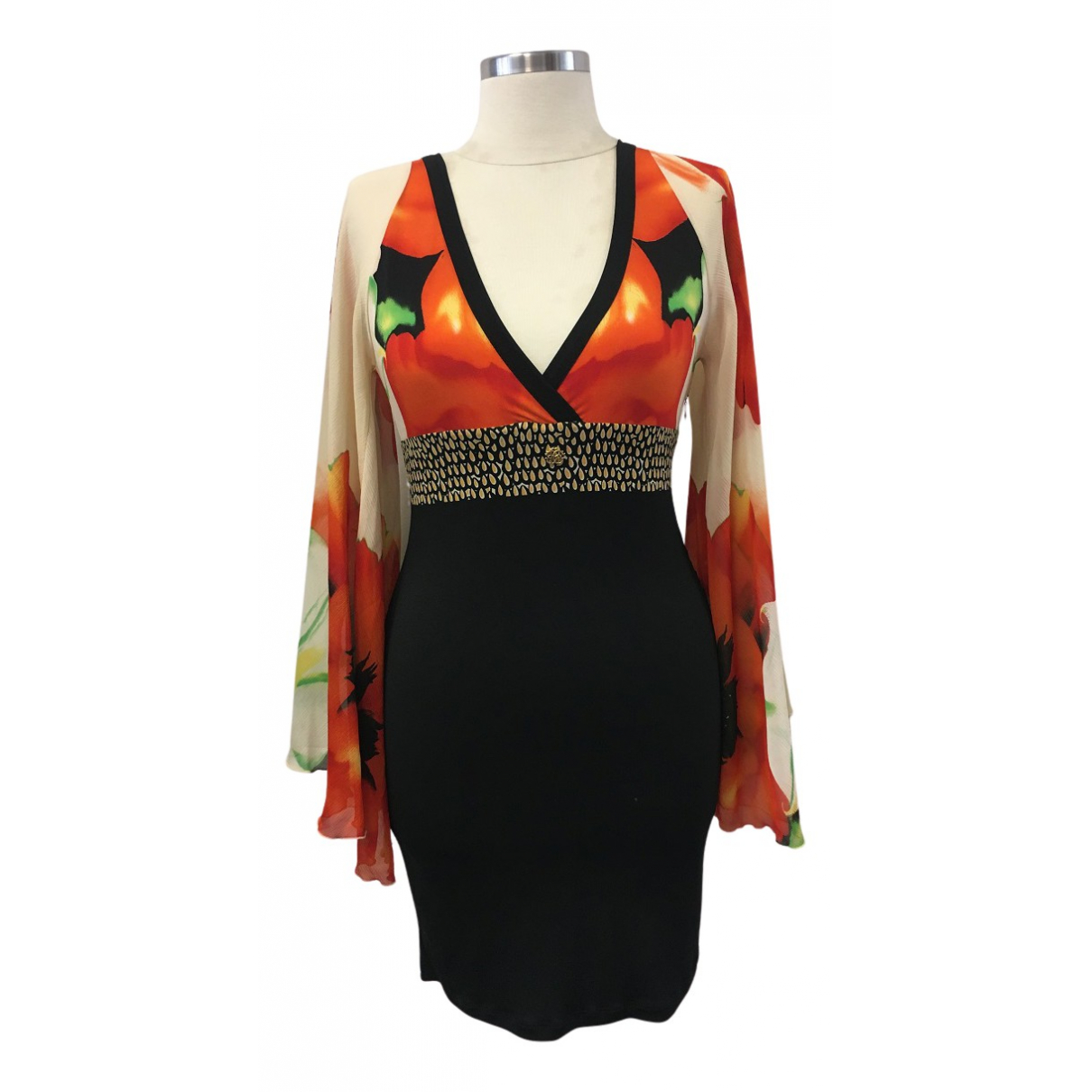 Roberto Cavalli \N Kleid in  Schwarz Synthetik