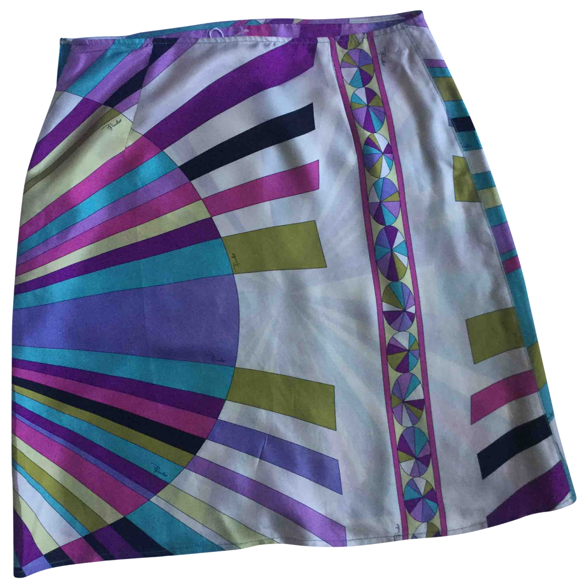 Mini falda de Seda Emilio Pucci