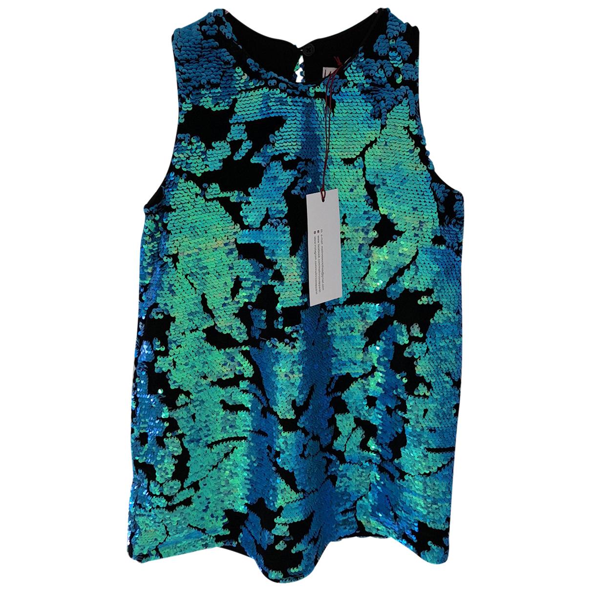 - Robe    pour enfant en a paillettes - turquoise