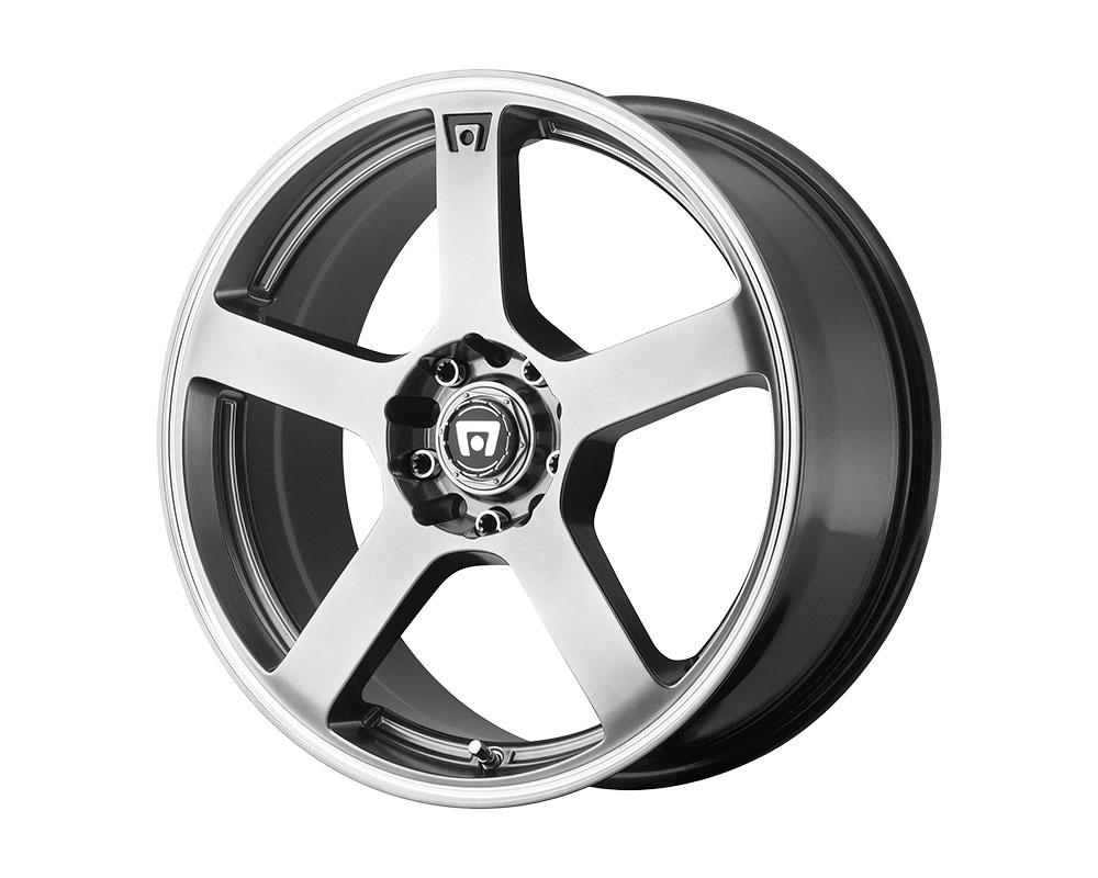 Motegi MR116 Wheel 15x6.5 5x5x100/5x114.3 +40mm Dark Silver Machined Flange