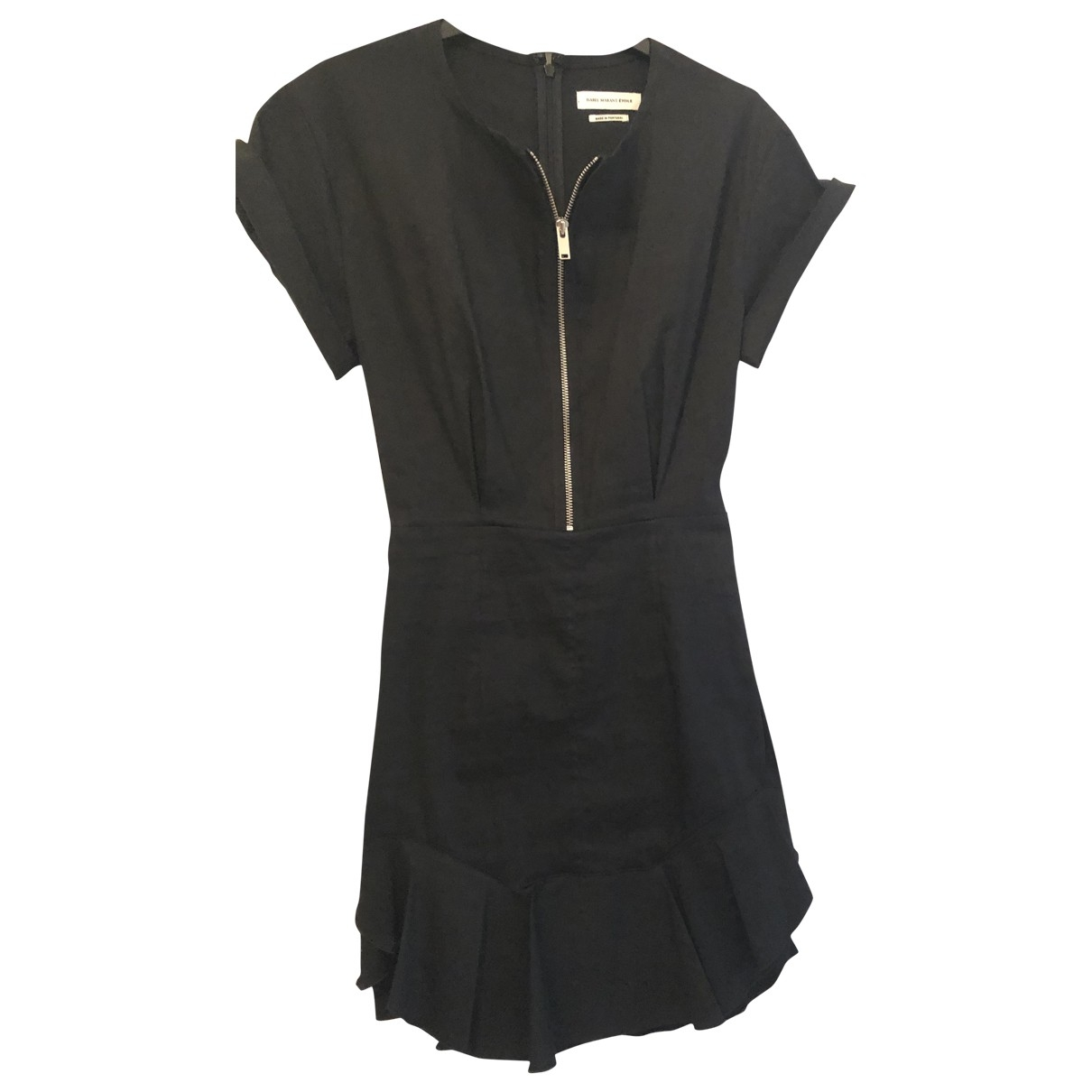 Isabel Marant Etoile \N Black Cotton - elasthane dress for Women 36 FR