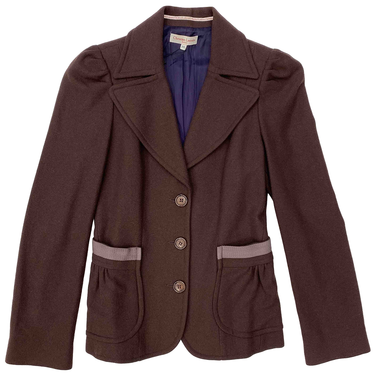 Christian Lacroix \N Burgundy Wool jacket for Women 36 FR