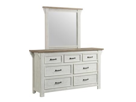 Wyatt Collection 1075-20 Mirror in Distressed White