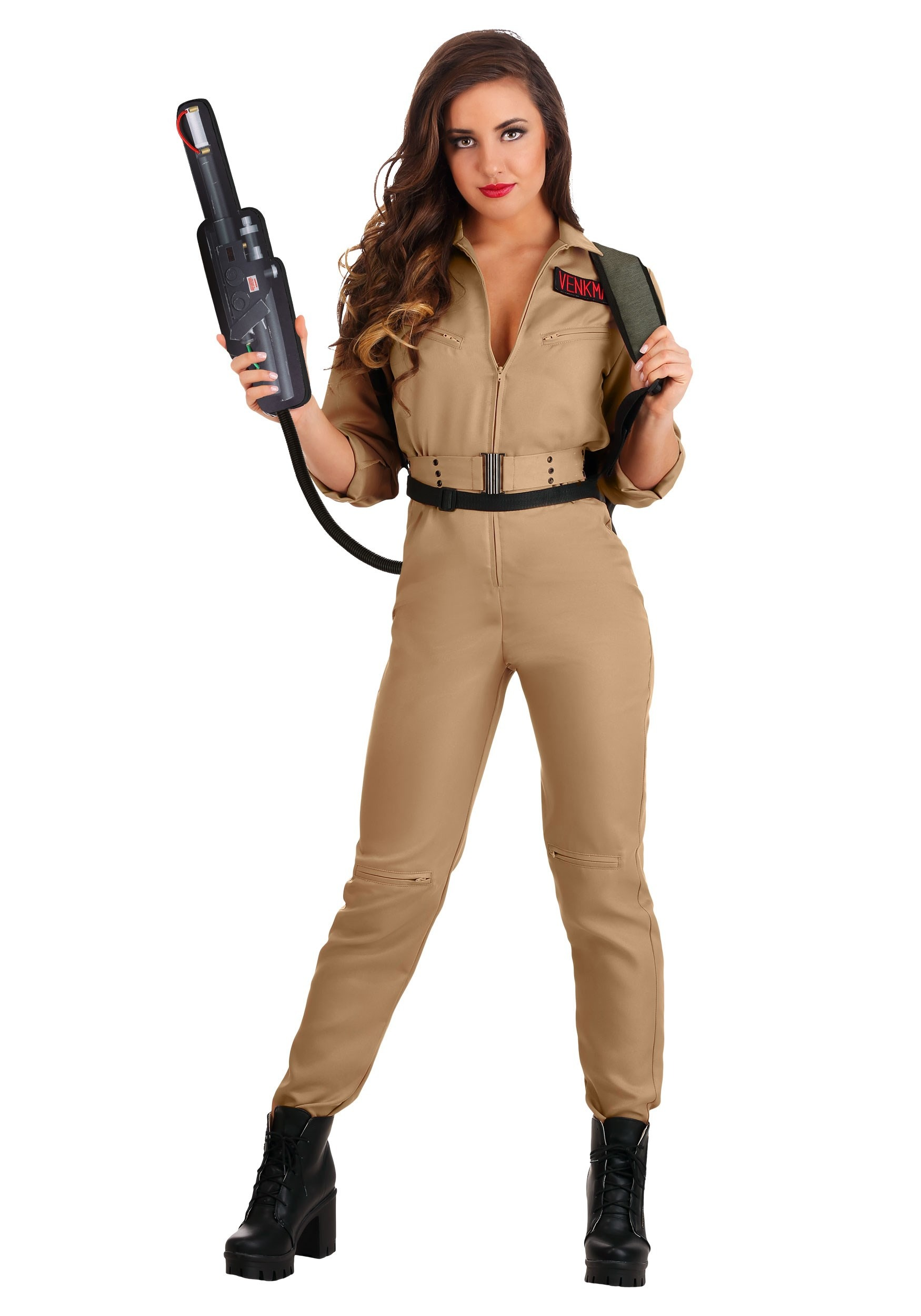 Ghostbusters Plus Size Costume Jumpsuit for Women