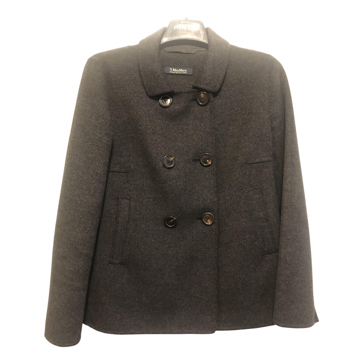 Max Mara 's N Grey Wool jacket for Women 42 IT