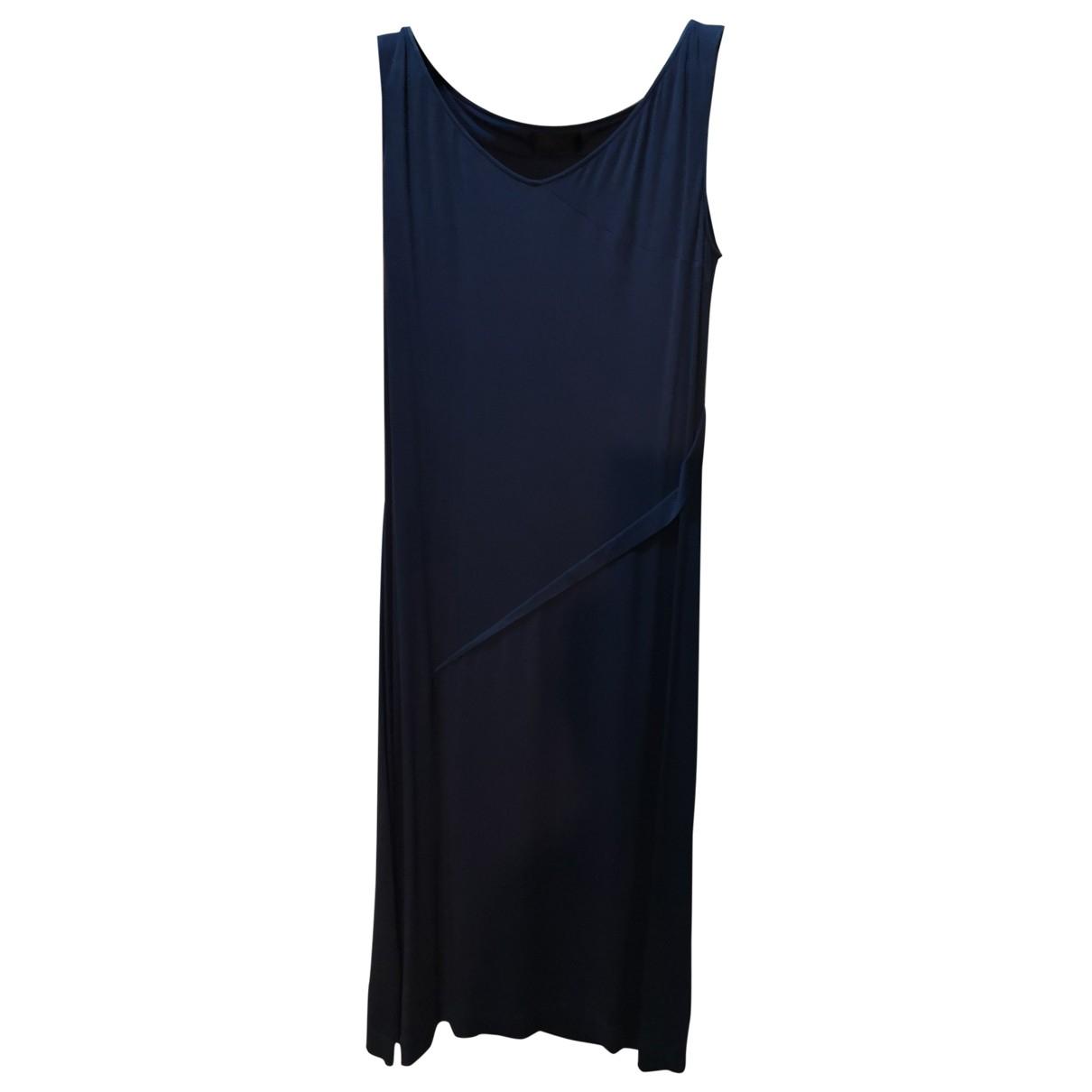 Calvin Klein Collection - Robe   pour femme en soie - bleu
