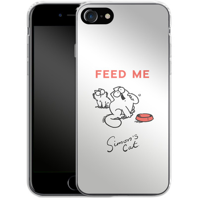 Apple iPhone 8 Silikon Handyhuelle - Feed Me von Simons Cat