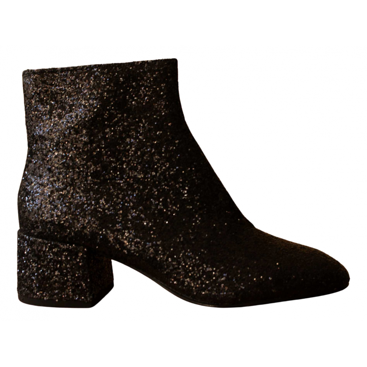 Ash \N Black Glitter Ankle boots for Women 39 EU