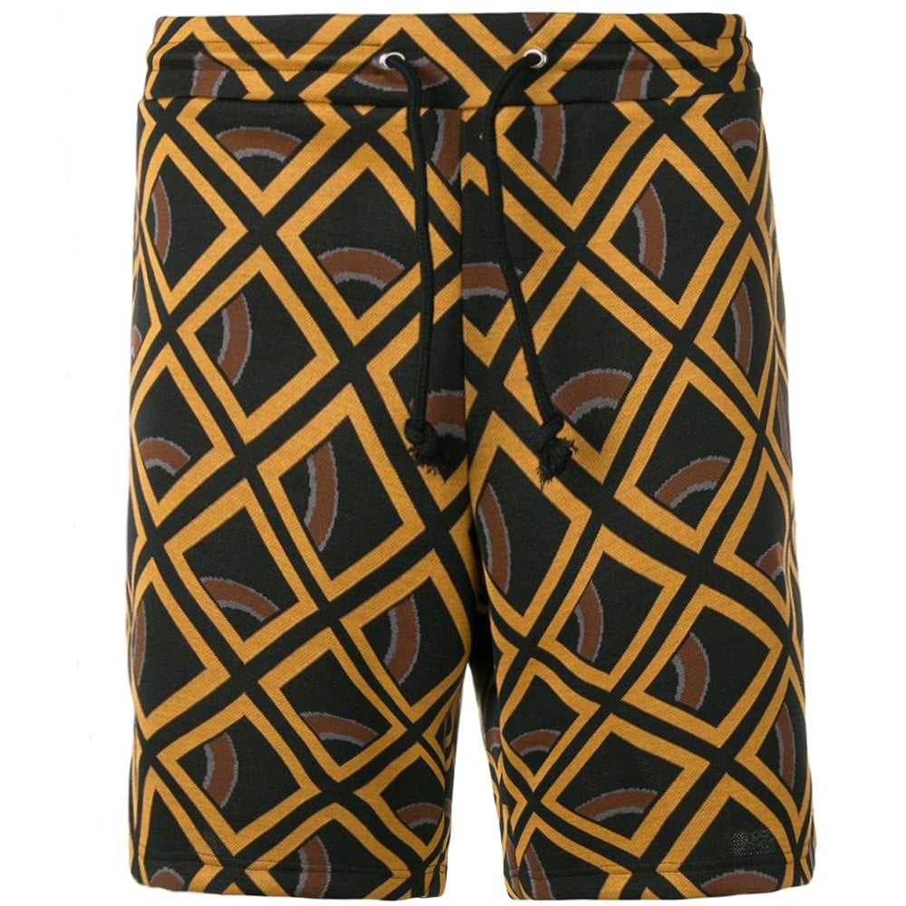 Maison Margiela Geometric Print Shorts Orange Size: MEDIUM, Colour: BEIGE