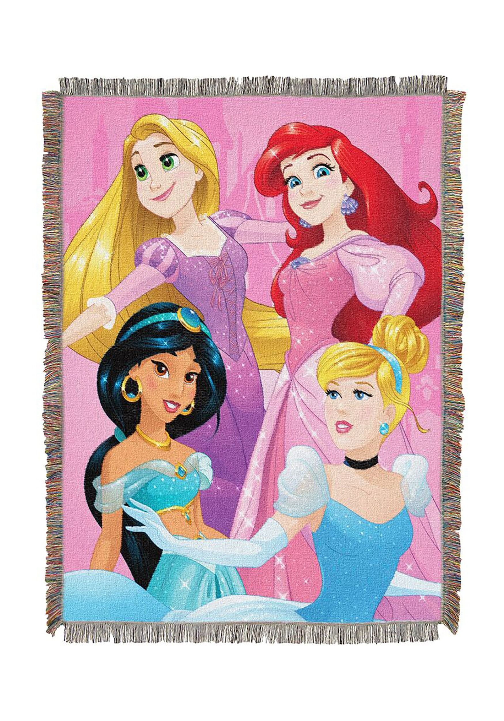 Born to Rule Disney Princesses Woven Tapestry Throw