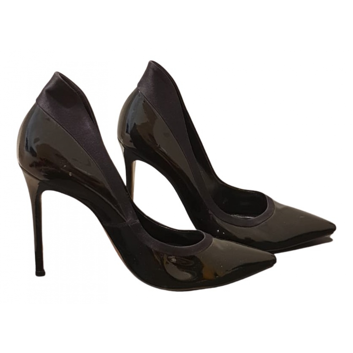 Gianvito Rossi N Black Patent leather Heels for Women 40 EU
