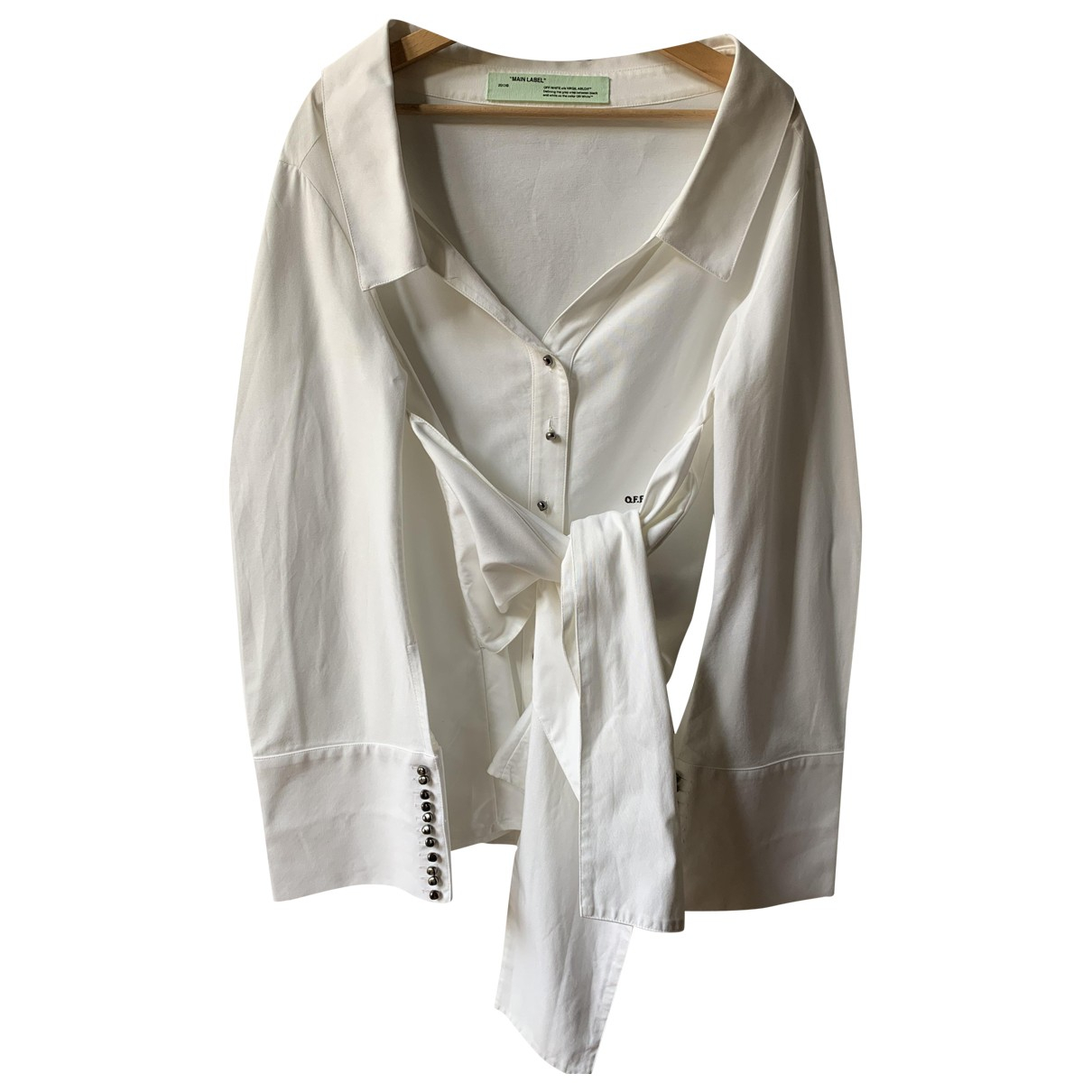Off-white N White Cotton  top for Women 40 IT