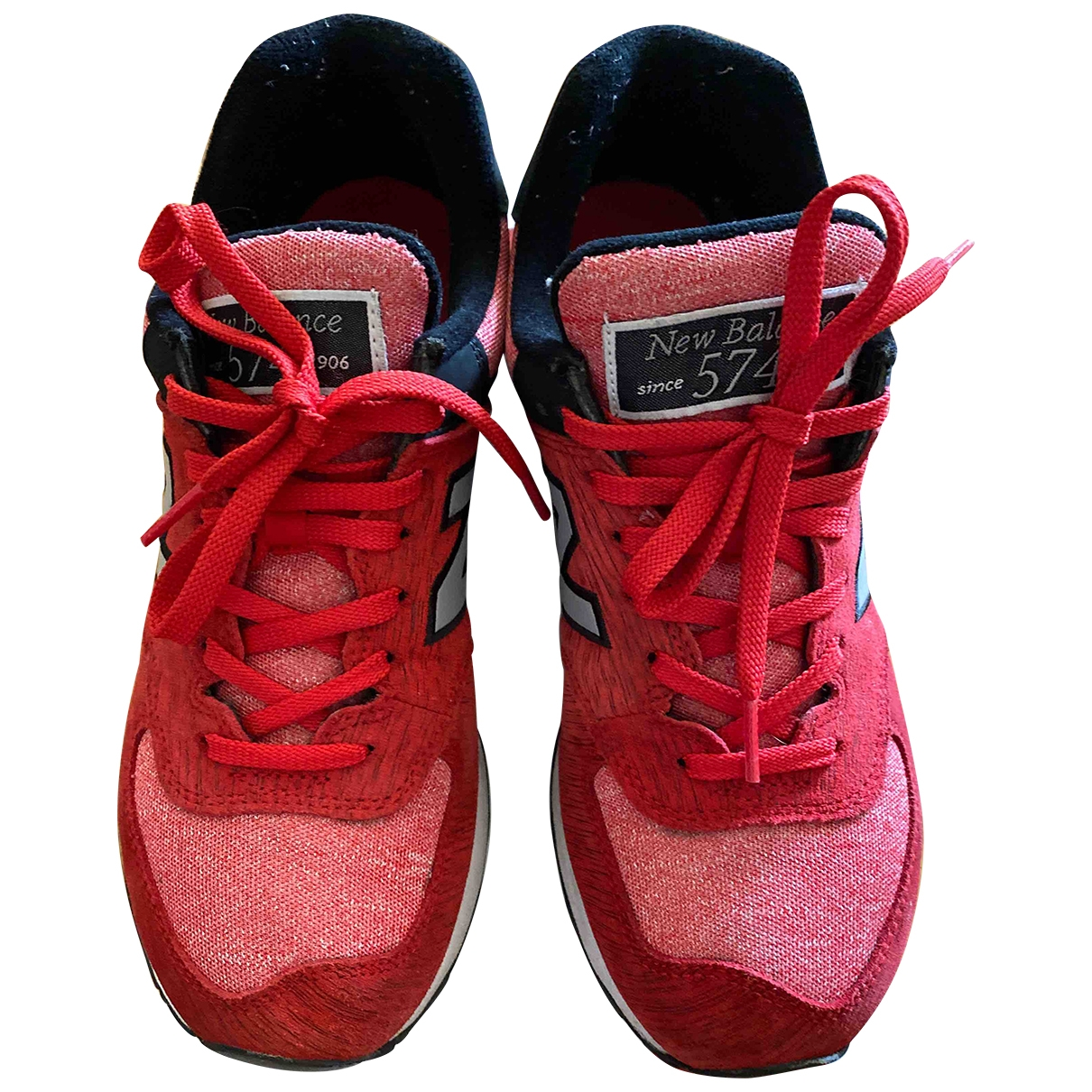 New Balance \N Red Cloth Trainers for Women 7.5 US