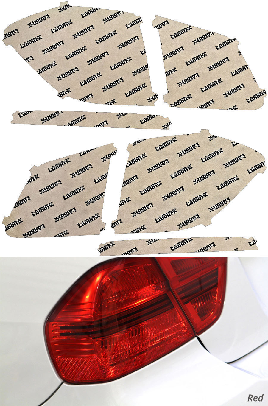 Mercedes GLS-Class 17-19 Red Tail Light Covers Lamin-X MB260R