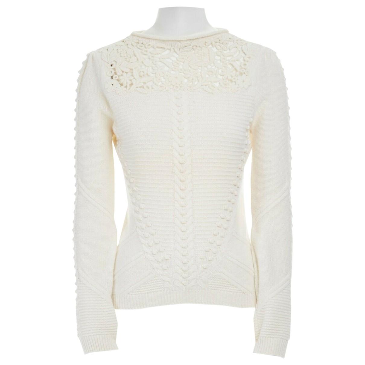 Valentino Garavani - Pull   pour femme en laine - ecru
