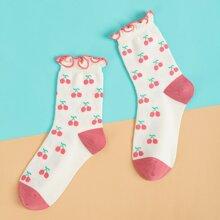 Fruit Pattern Socks