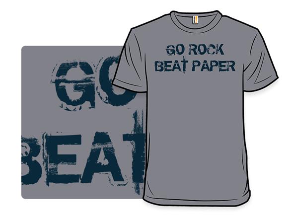 Go Rock, Beat Paper Remix T Shirt