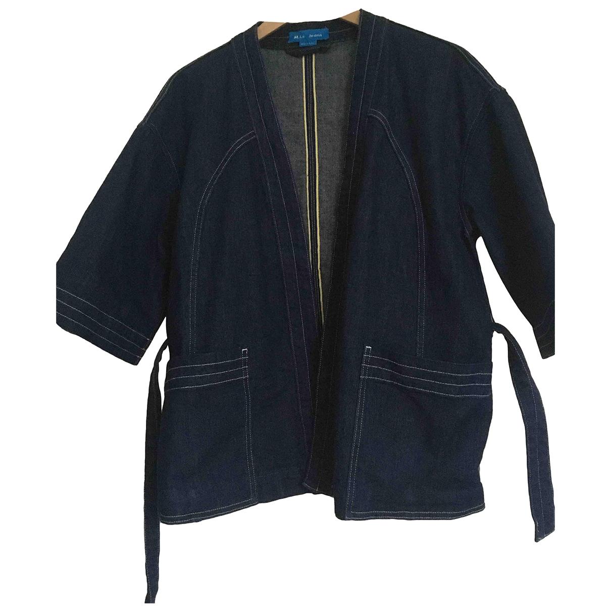 Mih Jeans \N Jacke in  Blau Baumwolle