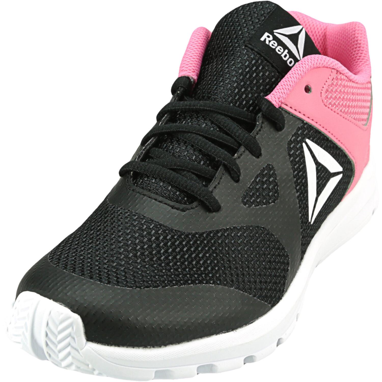 Reebok Girl's Rush Runner Black / Pink Ankle-High Mesh Running - 6.5M