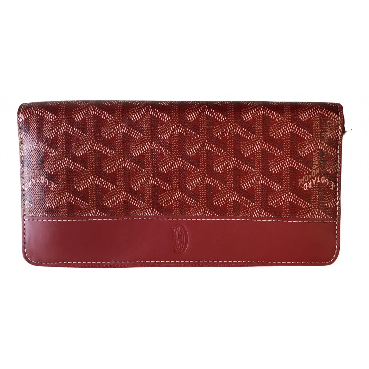 Goyard Matignon Portemonnaie in  Rot Leinen