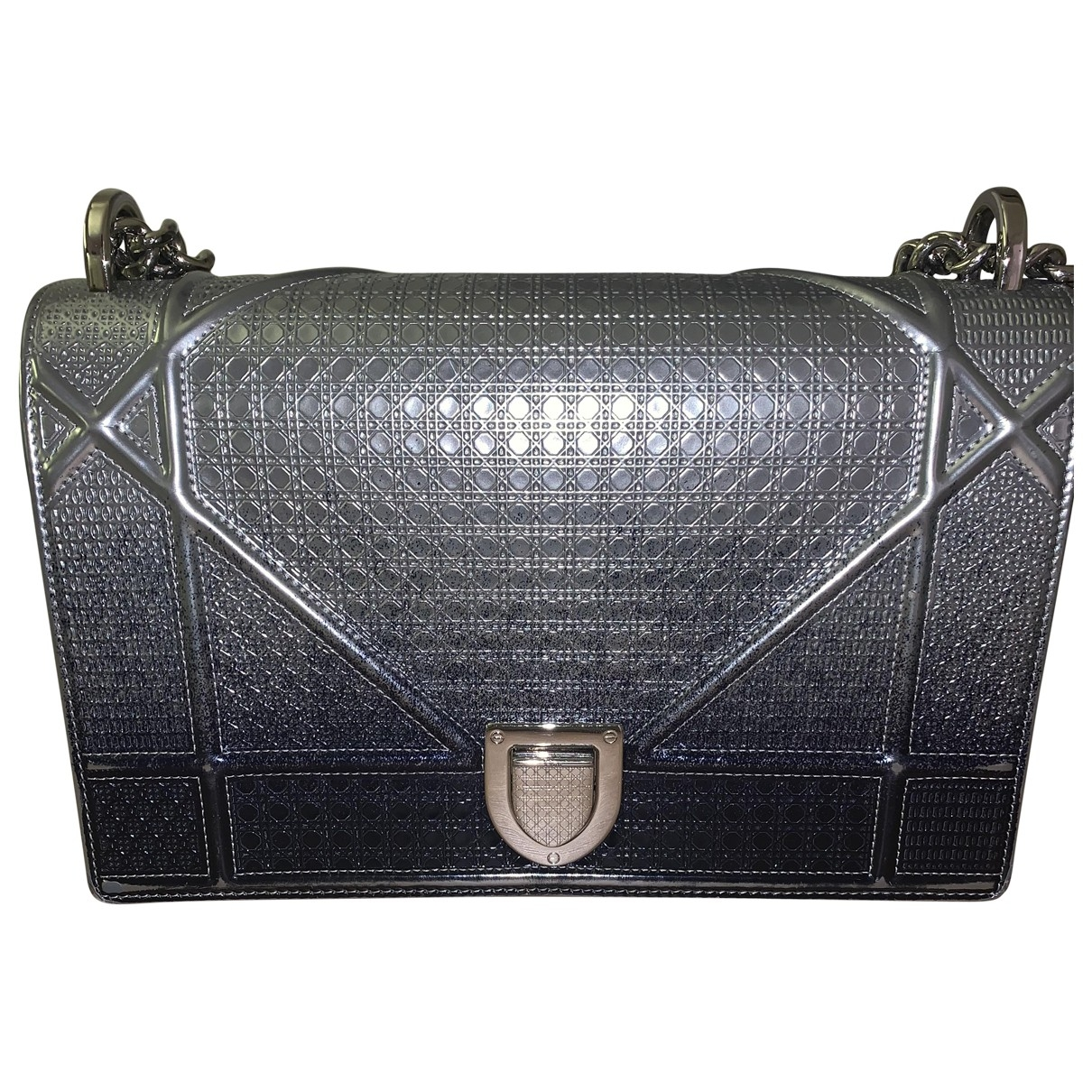 Dior Diorama Silver Leather handbag for Women \N
