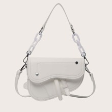 Stitch Detail Saddle Bag