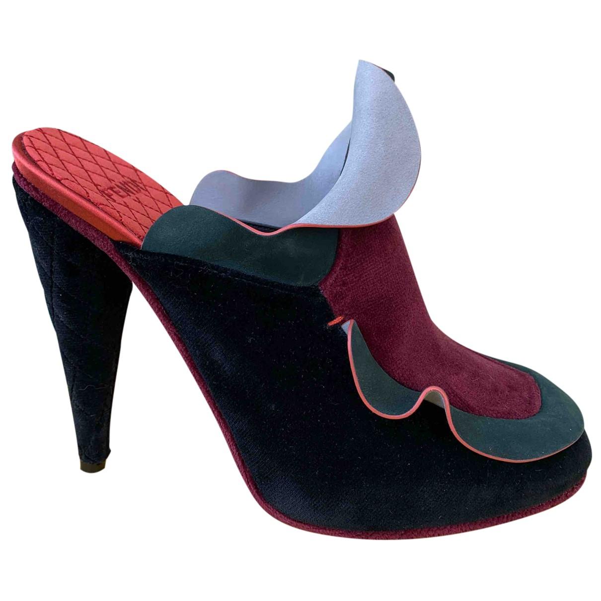Fendi N Multicolour Velvet Heels for Women 38 IT