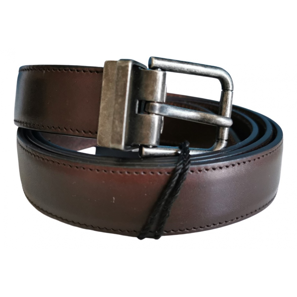 Dolce & Gabbana \N Brown Leather belt for Men XL international