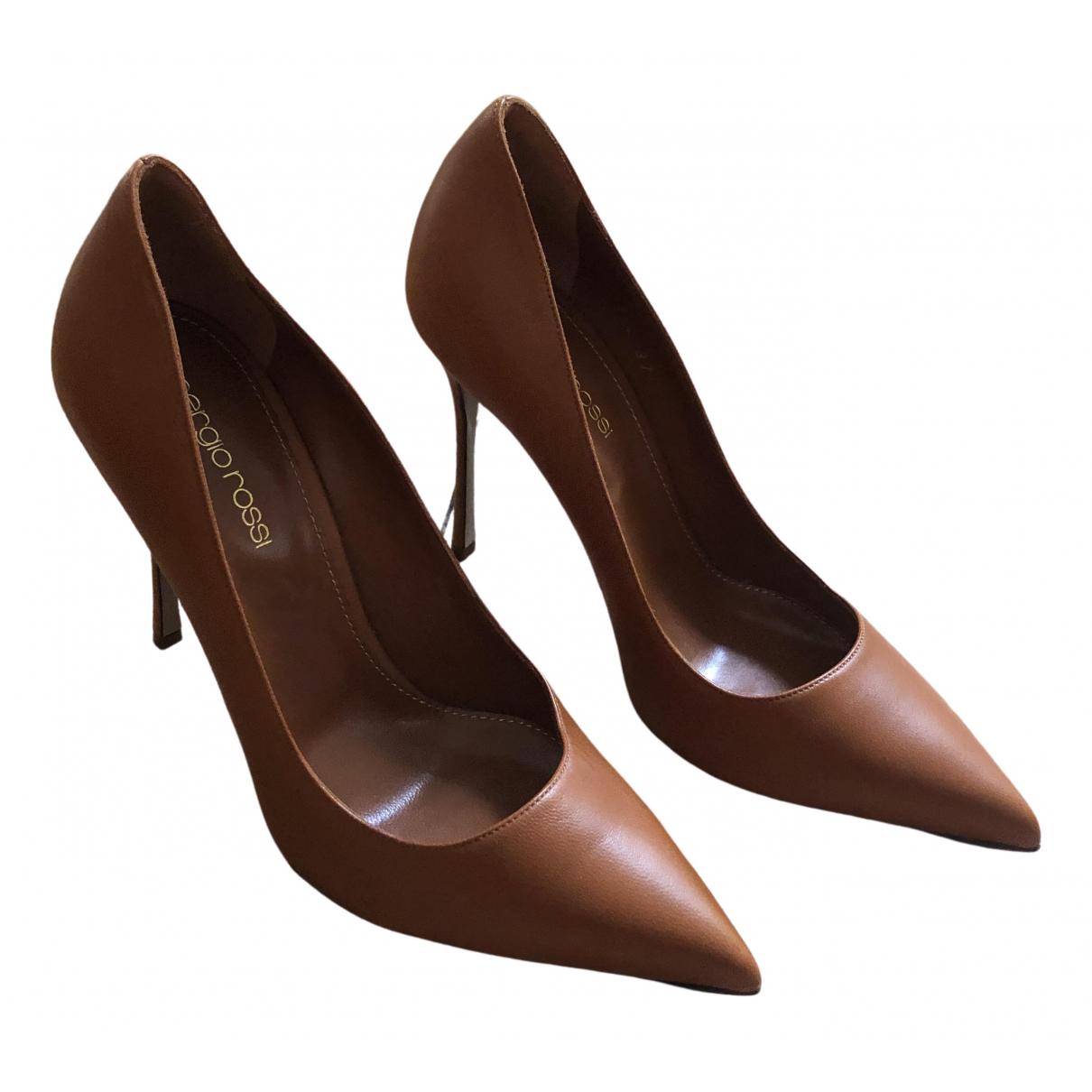 Sergio Rossi \N Camel Leather Heels for Women 37 EU