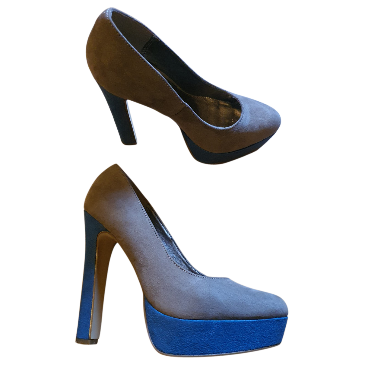 Silvian Heach \N Pumps in  Bunt Veloursleder