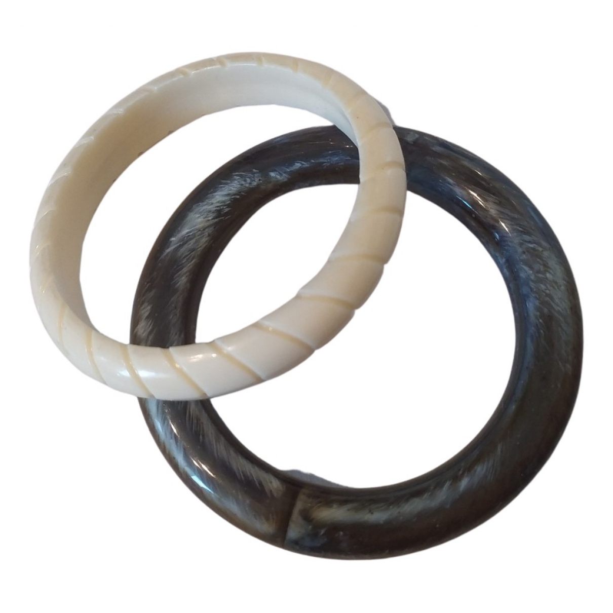 Non Signé / Unsigned Jonc Green bracelet for Women N