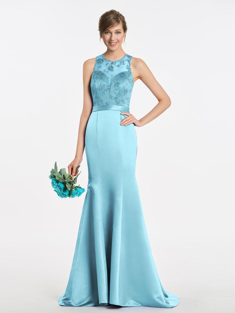 Ericdress Mermaid Lace Long Bridesmaid Dress