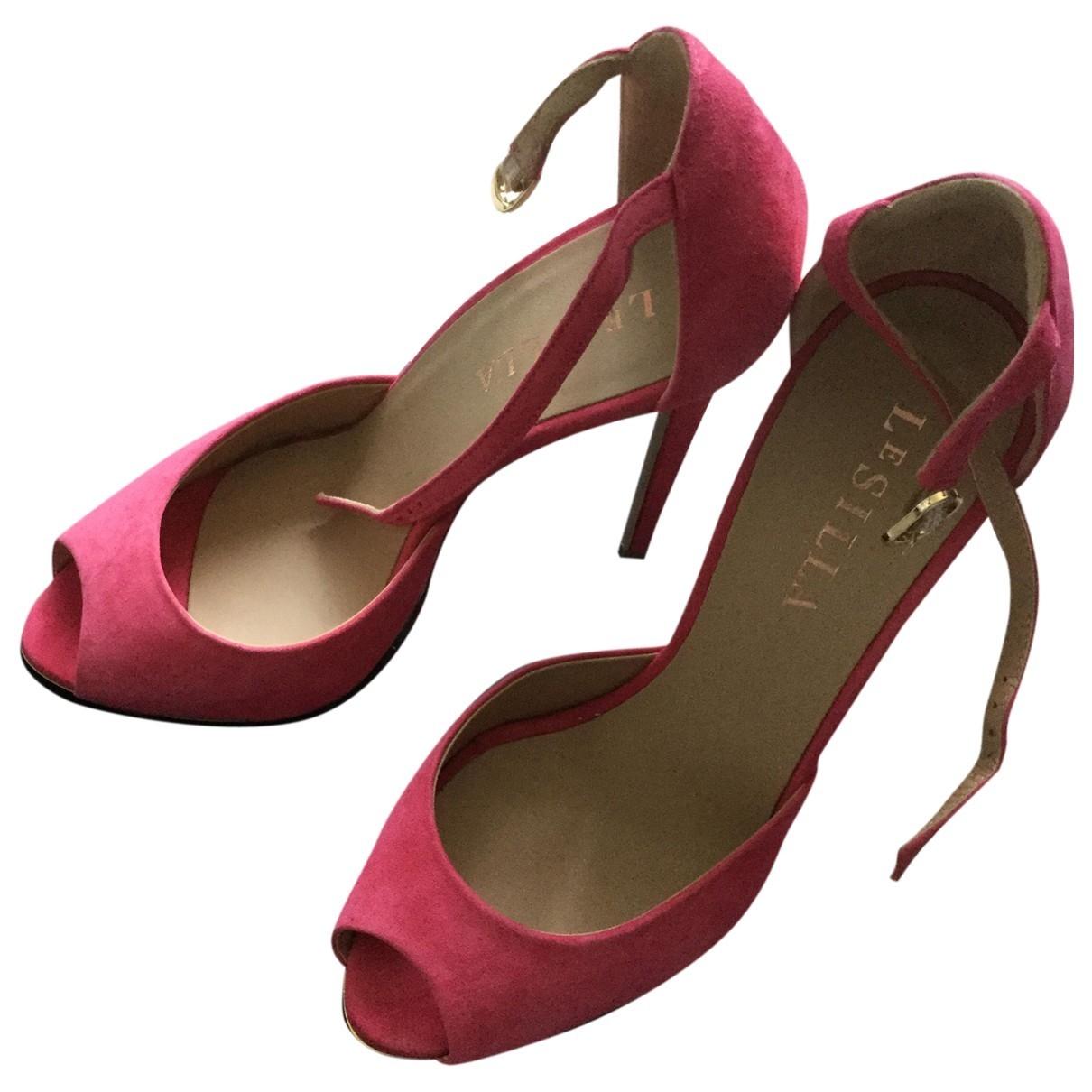 Le Silla - Sandales   pour femme en suede - rose
