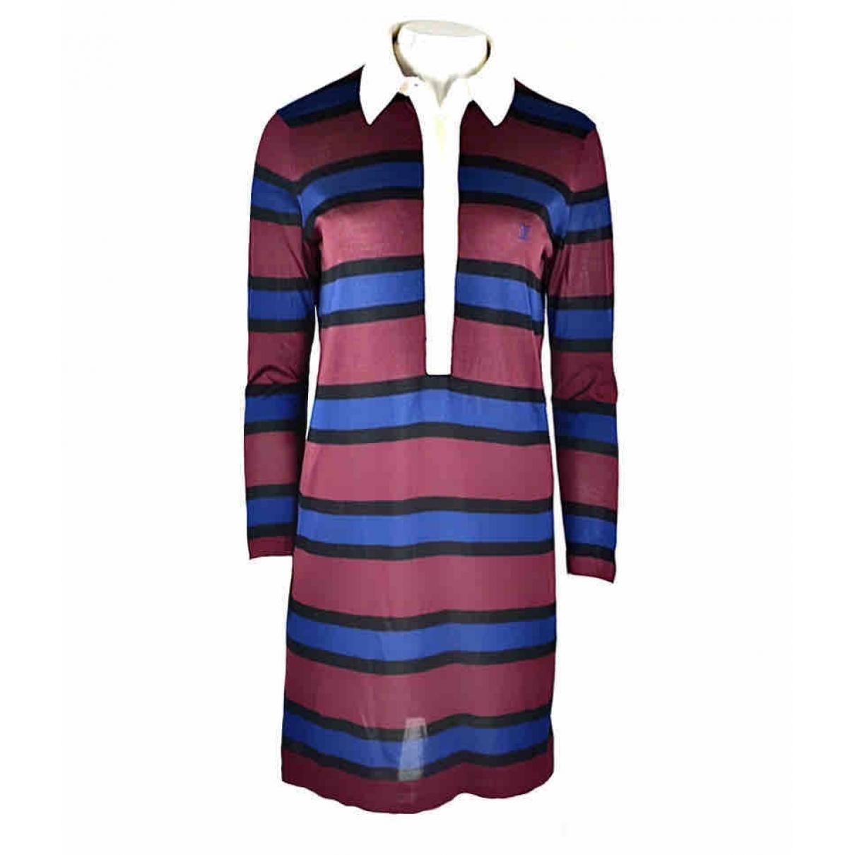 Louis Vuitton - Robe   pour femme en soie - bordeaux