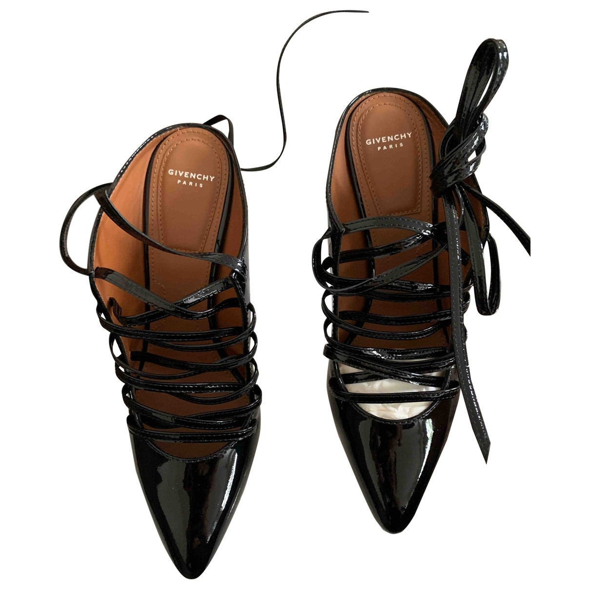 Givenchy \N Black Patent leather Sandals for Women 37.5 EU