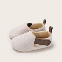 Baby Two Tone Velcro Strap Flats