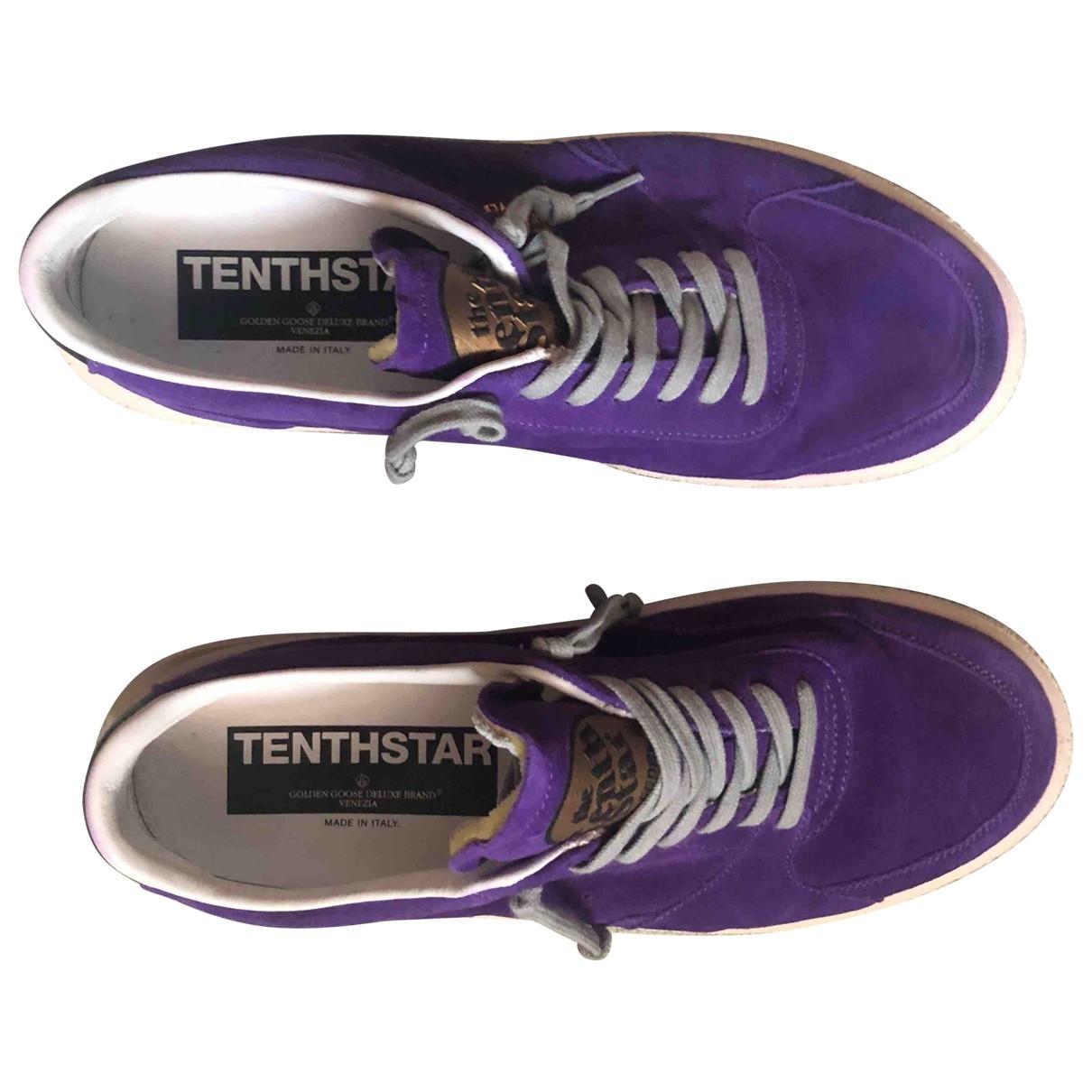 Golden Goose - Baskets Tenthstar pour femme en cuir - violet