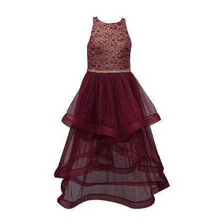 Bonnie Jean Big Girls Sleeveless Party Dress, 10 , Red